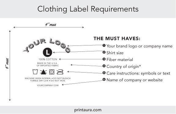 Clothing Care Label Template Branding Services Tagless Neck Label Application