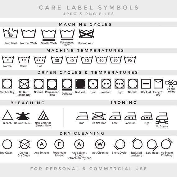 Clothing Care Label Template Care Label Clip Art Laundry Symbols Clipart Textile Care