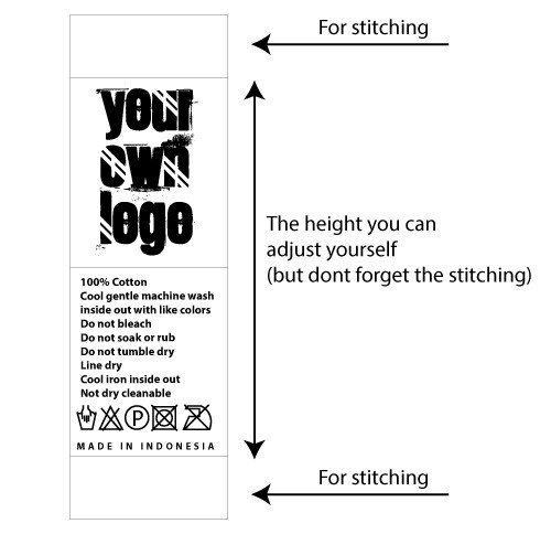 Clothing Care Label Template Care Label Template