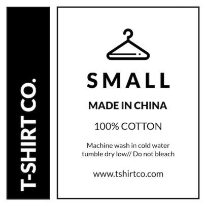 Clothing Care Label Template Placeit Clothing Label Design Template for A T Shirt Tag