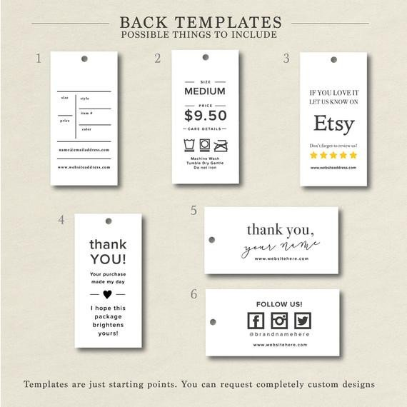 Clothing Care Label Template Product Tags Hang Tag Custom Clothing Label Custom