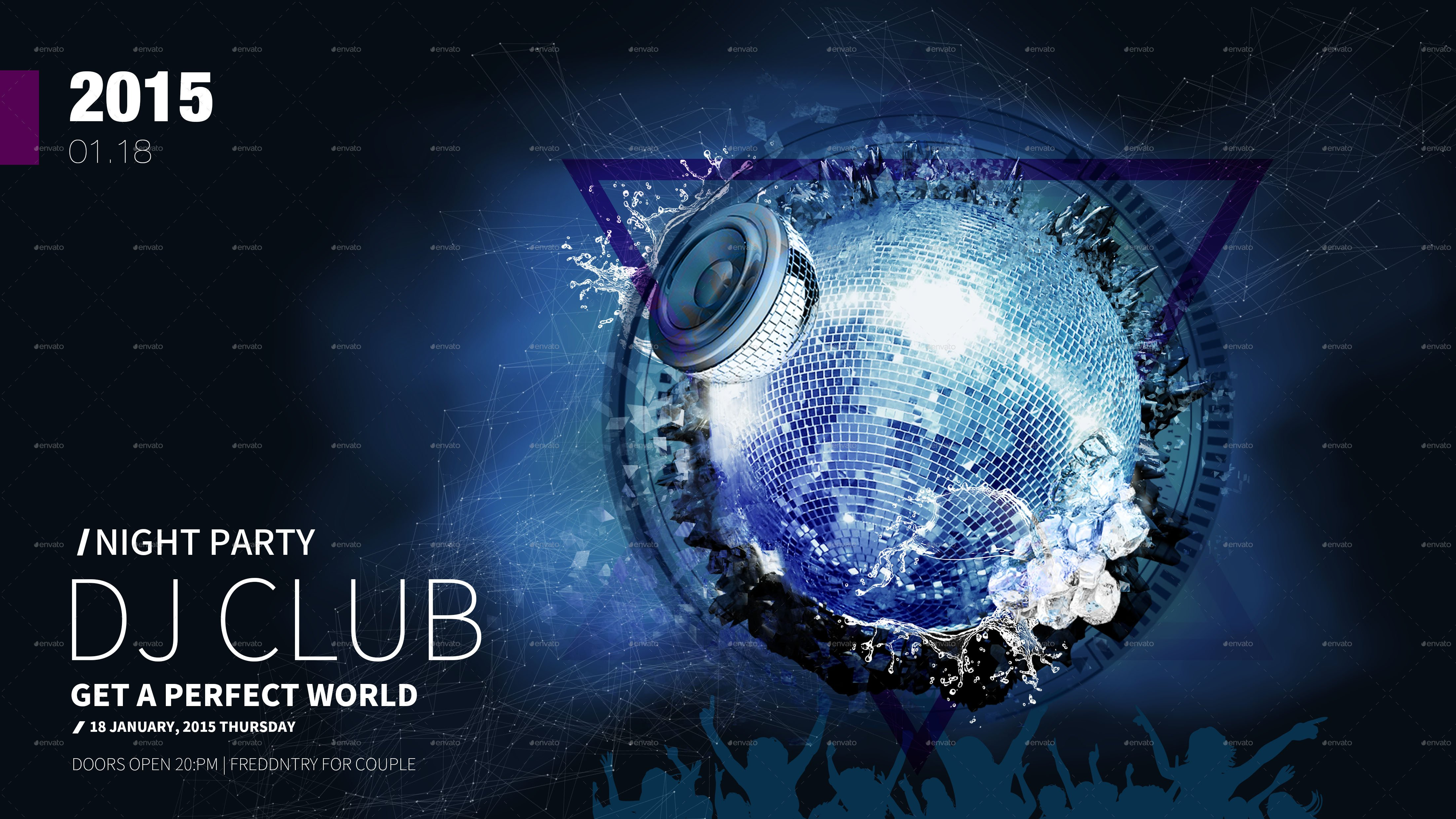 Club Flyer Background Templates Club Dj Flyer Template Psd by Kelsoz