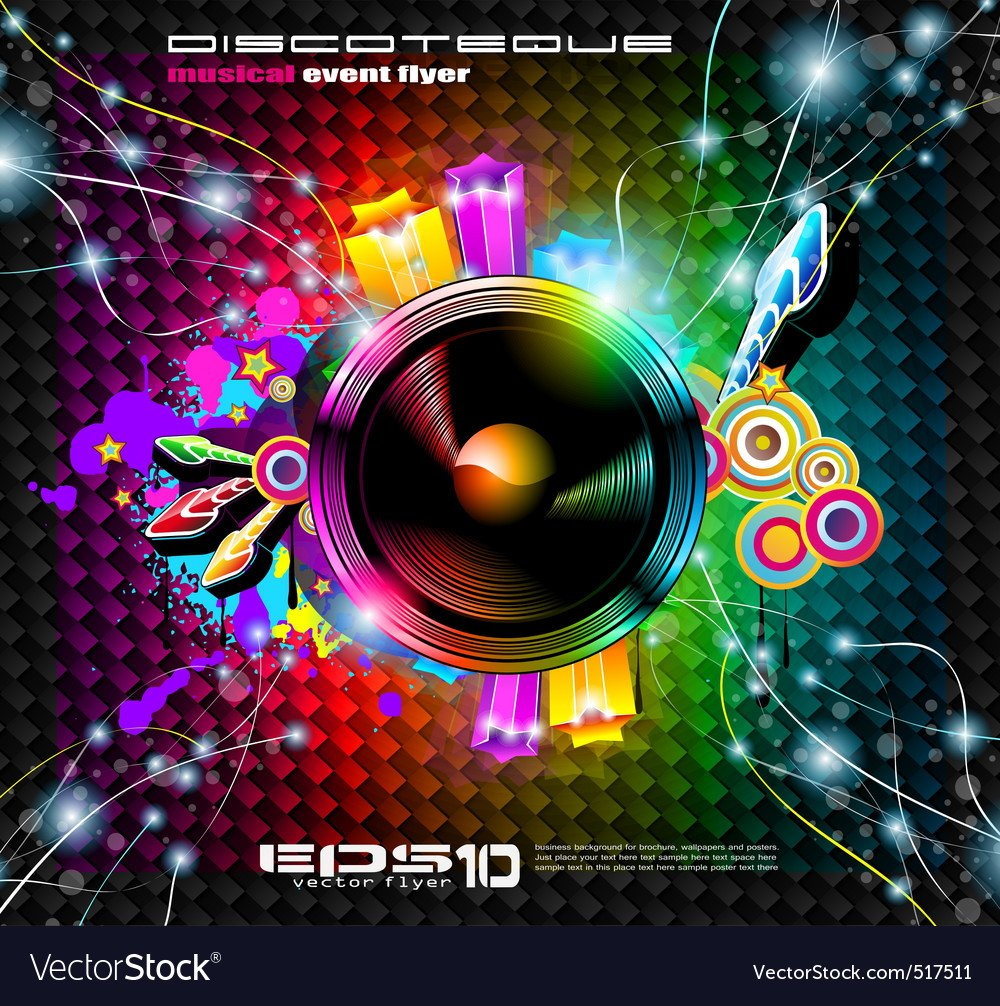 Club Flyer Background Templates Club Flyer Background Royalty Free Vector Image