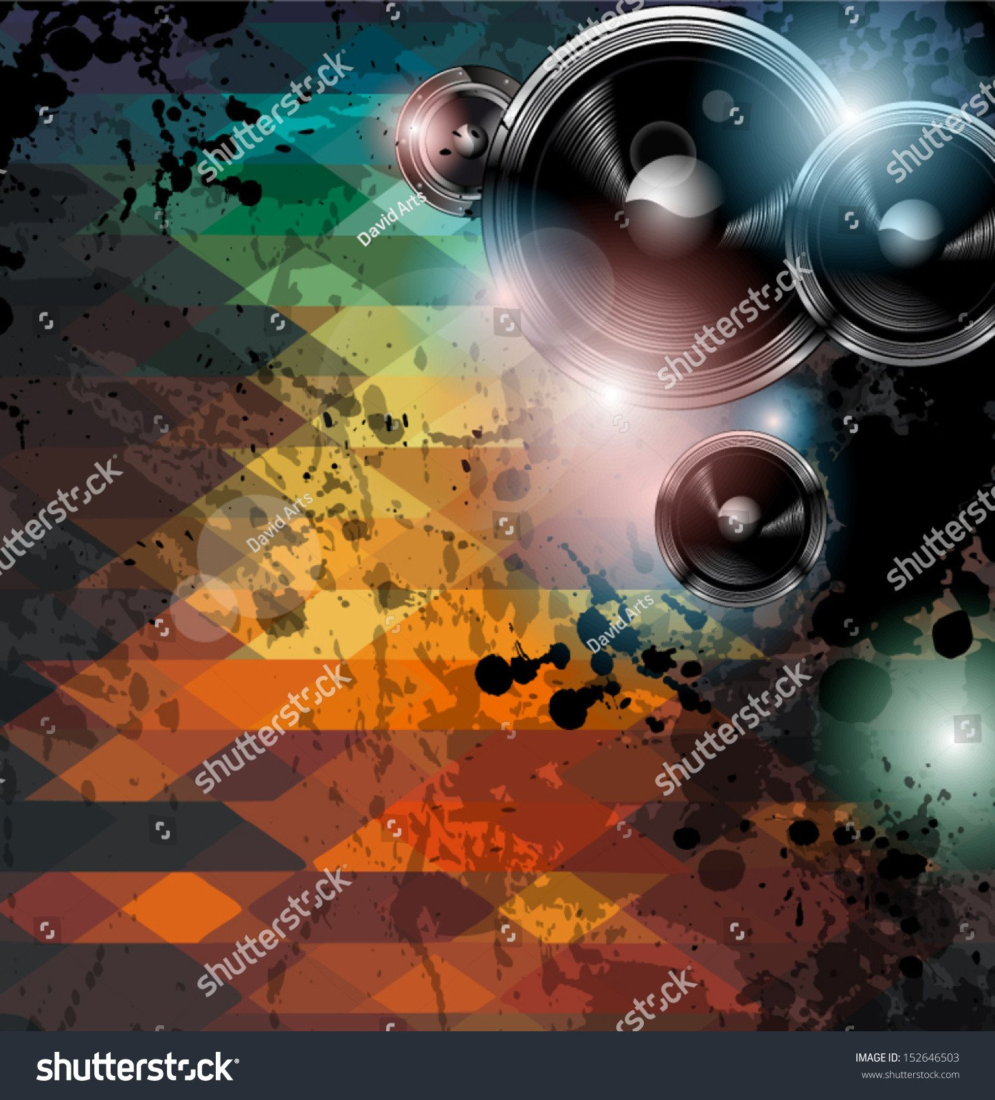 Club Flyer Background Templates Disco Club Flyer Template Abstract Background Stock Vector