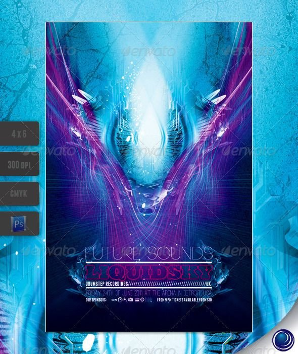 Club Flyer Background Templates Futuristic Club Flyer Template