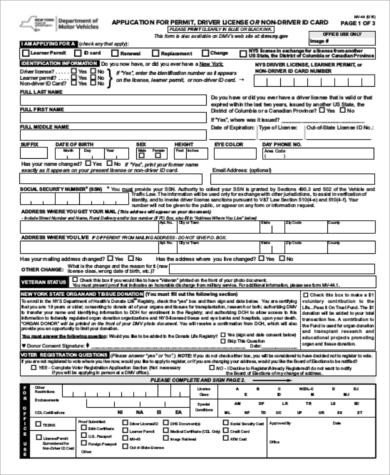 Cna License Renewal form Texas Sample Dmv Application form 9 Examples In Word Pdf