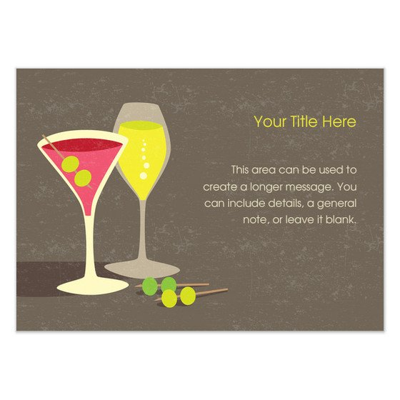 Cocktail Party Invitation Template Cocktail Party Invitations & Cards On Pingg