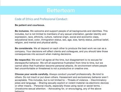Code Of Ethics Template Code Of Ethics and Professional Conduct [with Examples]