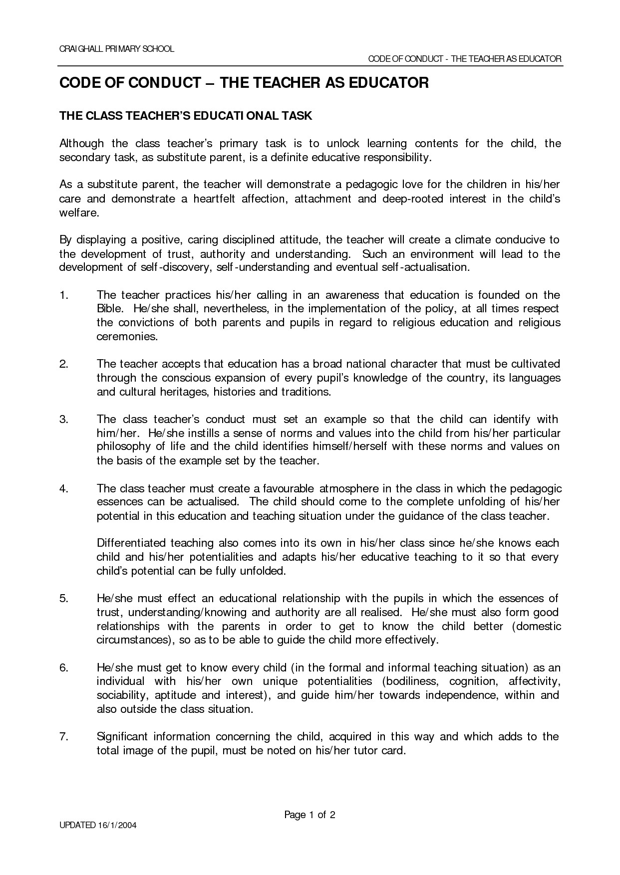 Code Of Ethics Template Code Of Ethics Examples Google Search