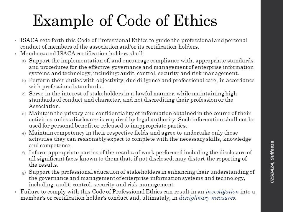 Code Of Ethics Template Ethical & Legal issues Revised On Ppt