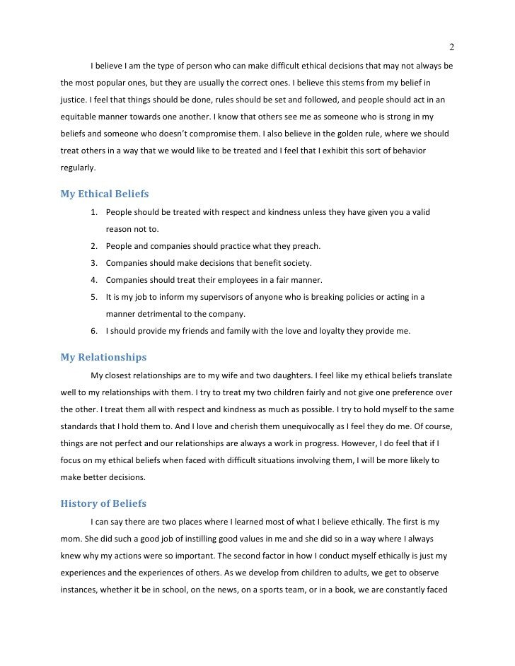 Code Of Ethics Template Personal Code Ethics