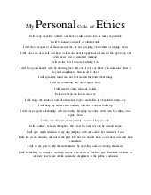 Code Of Ethics Template Sample Of Pany Code Of Ethics and Evaluation