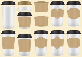 Coffee Sleeve Template Illustrator Coffee Sleeve Free Vector Graphic Art Free Found