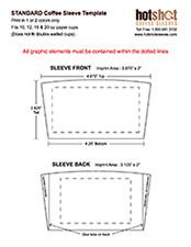 Coffee Sleeve Template Illustrator Coffee Sleeve Template Illustrator and Shop