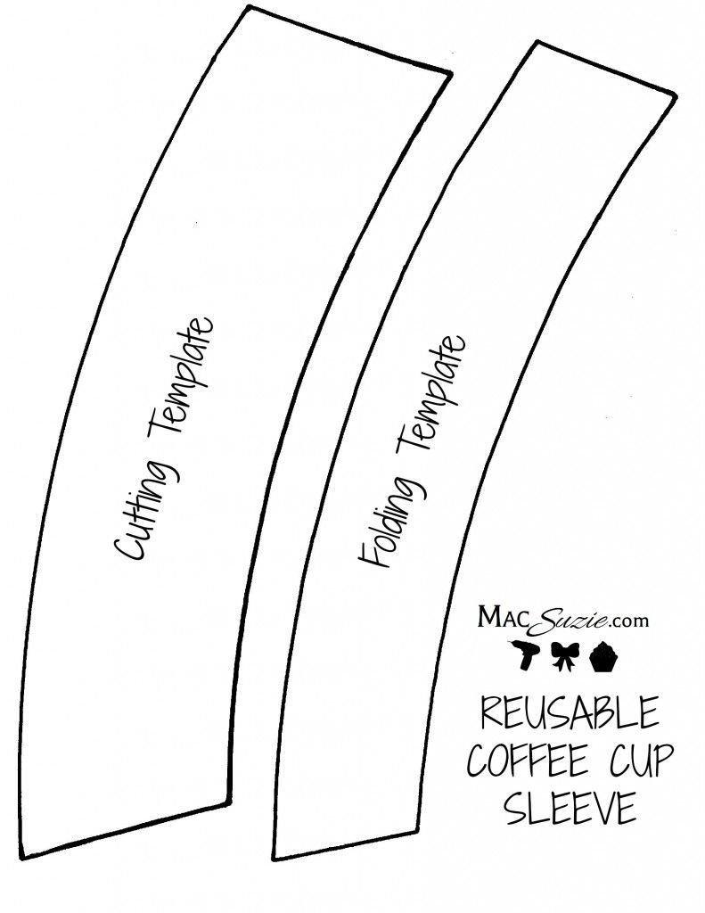 Coffee Sleeve Template Illustrator Felt Coffee Sleeve Template Template