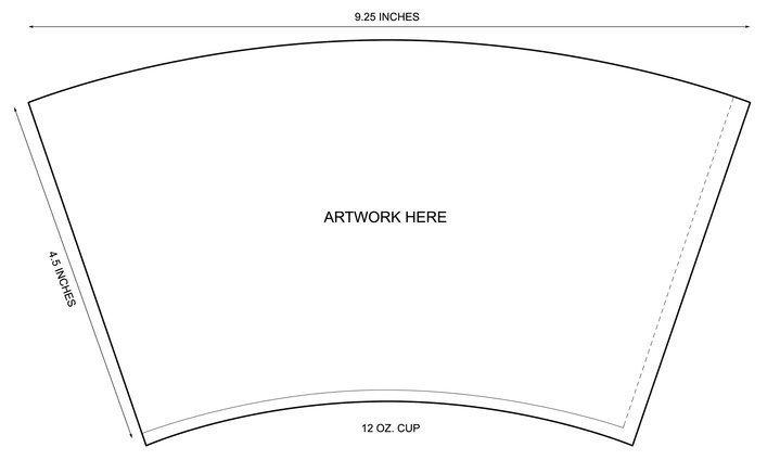 Coffee Sleeve Template Illustrator Ketentuan Sablon