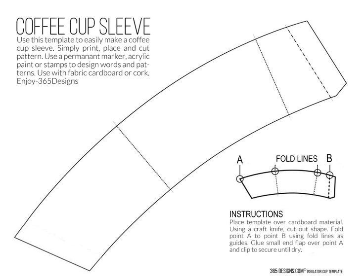 Coffee Sleeve Template Illustrator New Mccafé Single Brew Coffee with Printable Cup Sleeve
