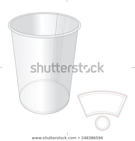 Coffee Sleeve Template Illustrator Paper Cup with Die Cut Template Stock Vector Illustration