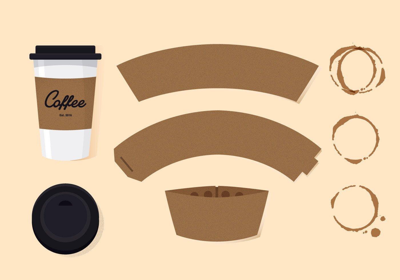 Coffee Sleeve Template Illustrator Starbucks Coffee Sleeve Template Templates