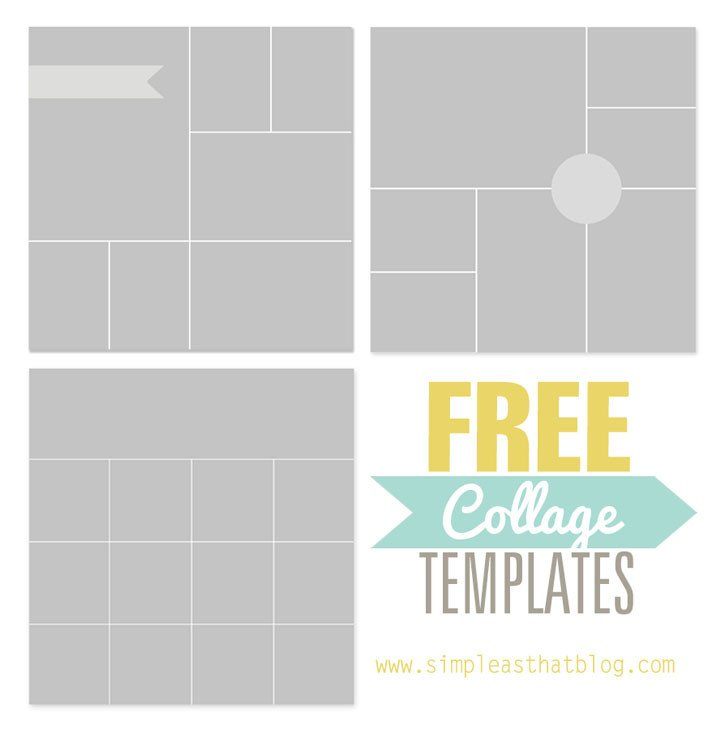 Collage Template for Photoshop Free Collage Templates From Simple as that