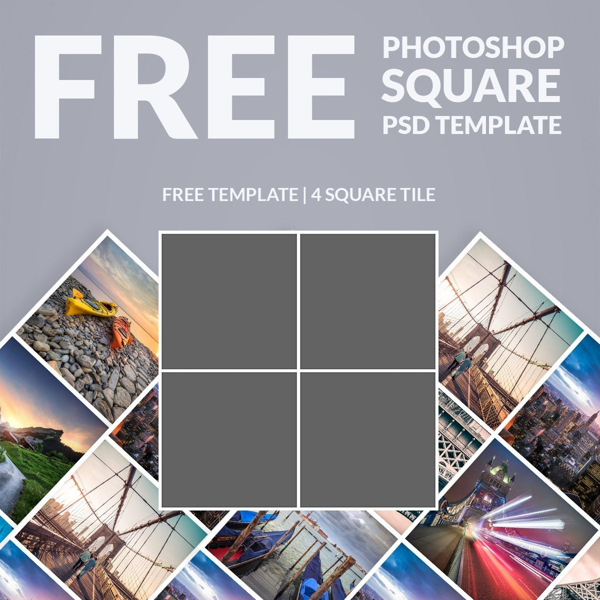 Collage Template for Photoshop Free Shop Template Collage Square Download now