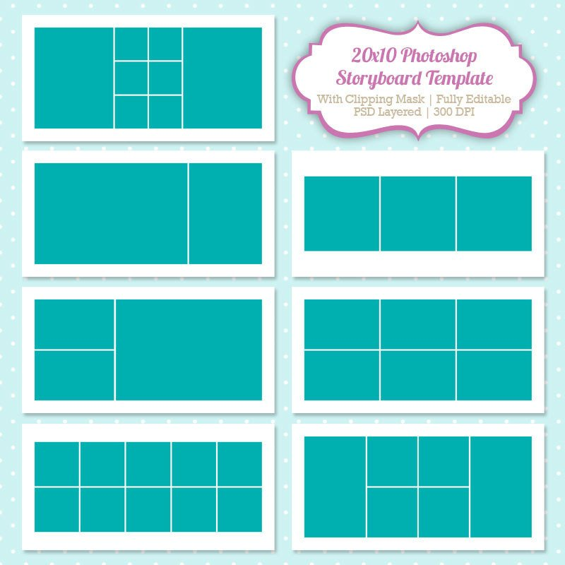 Collage Template for Photoshop Shop Collage Template