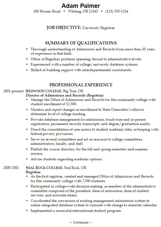 College Admissions Resume Template 15 College Application Resumes Samples