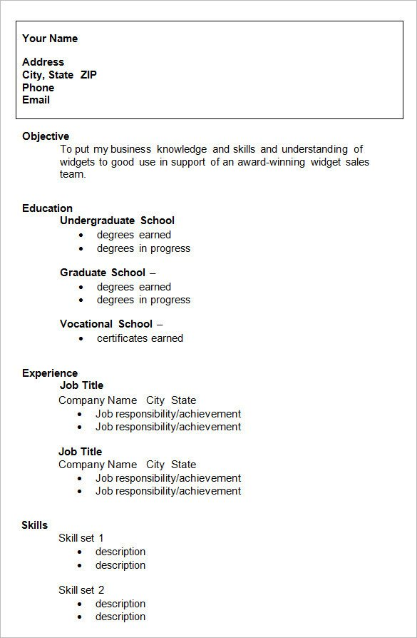 College Admissions Resume Template 24 Best Student Sample Resume Templates Wisestep