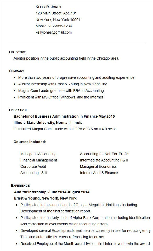 College Admissions Resume Template College Resume Sample