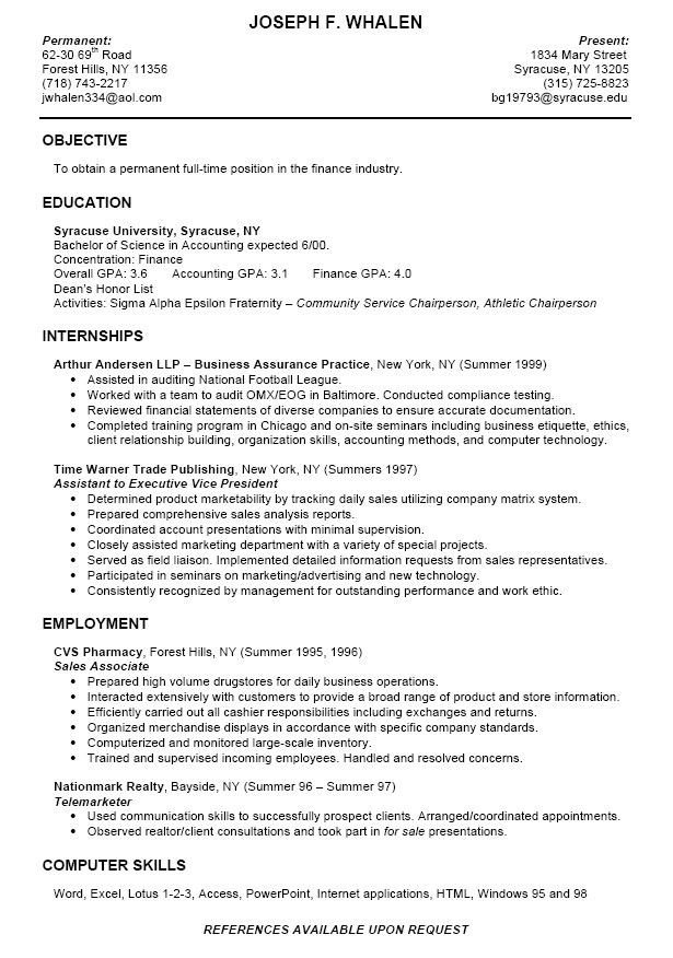 College Freshman Resume Template College Intern Resume Samples as College Student Has No