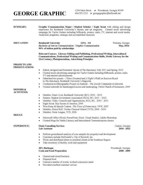 College Freshman Resume Template Latest Design Examples College Resumes