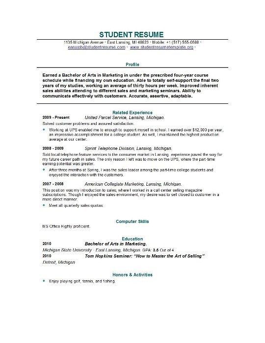 College Grad Resume Templates 85 Free Resume Templates