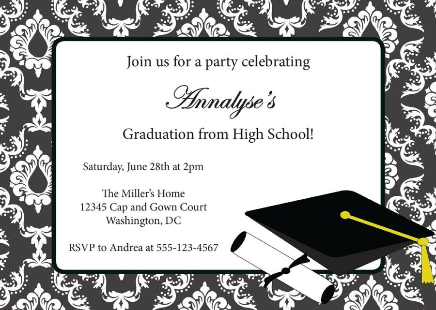 College Graduation Announcements Template 40 Free Graduation Invitation Templates Template Lab