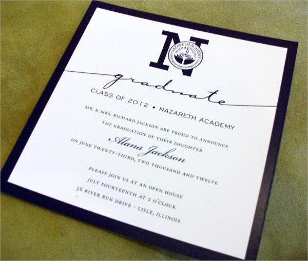College Graduation Announcements Template 50 Graduation Invitation Templates Psd Ai Word