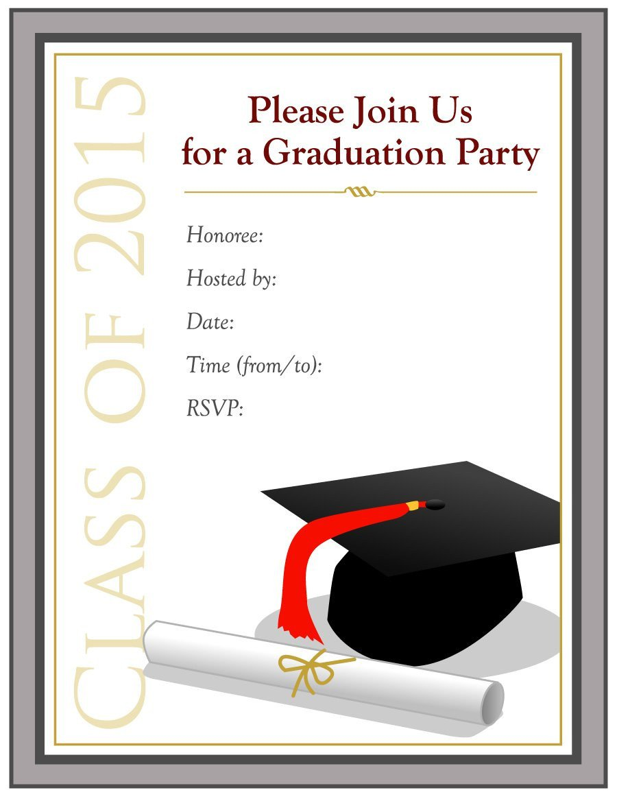 College Graduation Invitation Templates 40 Free Graduation Invitation Templates Template Lab