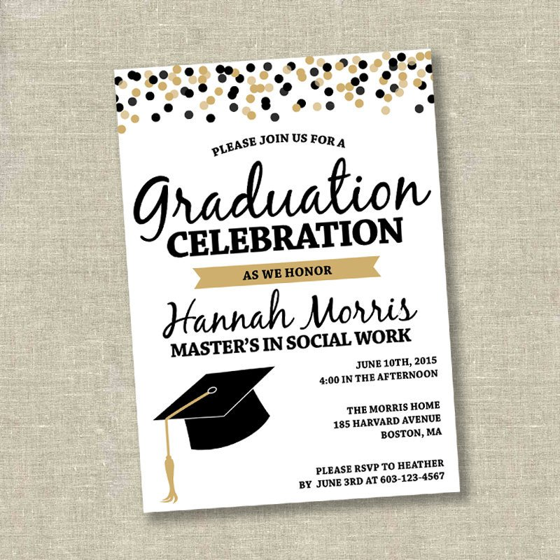 College Graduation Invitation Templates Graduation Invitation College Graduation Invitation High