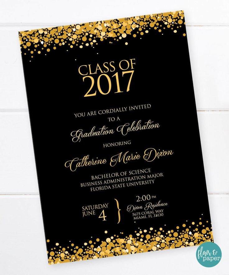College Graduation Invitations Templates 25 Best Ideas About High School Graduation Invitations On