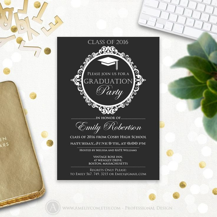 College Graduation Invitations Templates Best 25 College Graduation Announcements Ideas On
