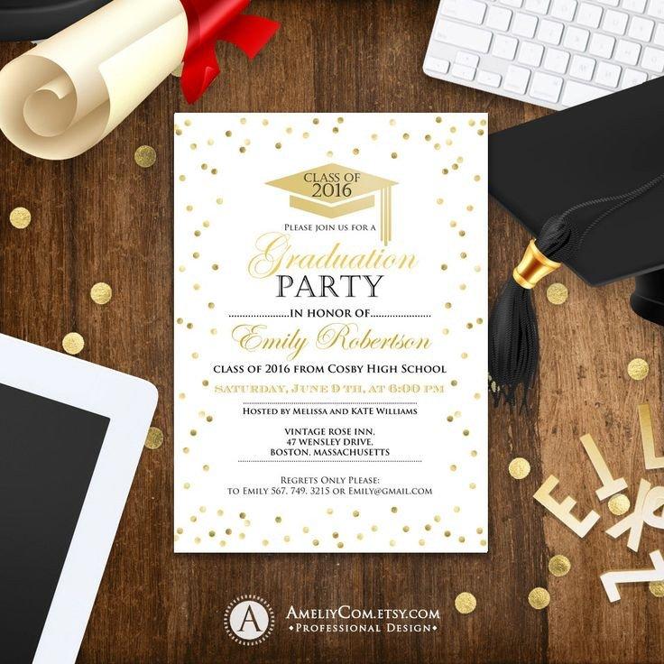 College Graduation Invitations Templates Best 25 Graduation Invitation Templates Ideas On