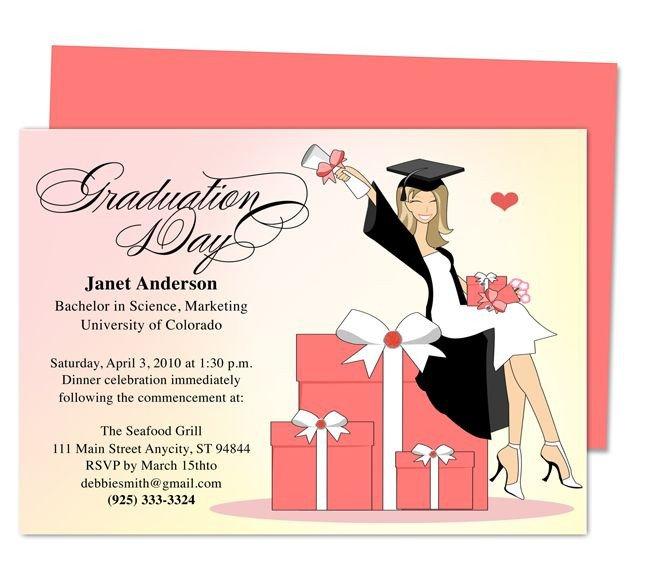 College Graduation Invitations Templates Best 46 Printable Diy Graduation Announcements Templates