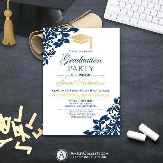 College Graduation Invitations Templates Graduation Party Invitation Сollege Printable Template Boy
