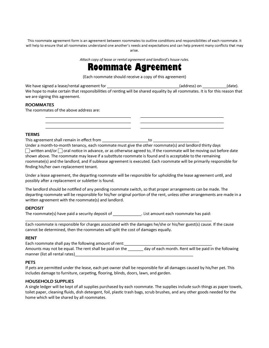 College Roommate Contract Template 20 Mistakes Every University Florida Freshman Makes
