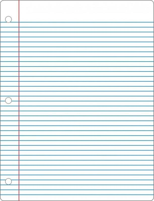 College Ruled Notebook Paper College Ruled Notebook Paper