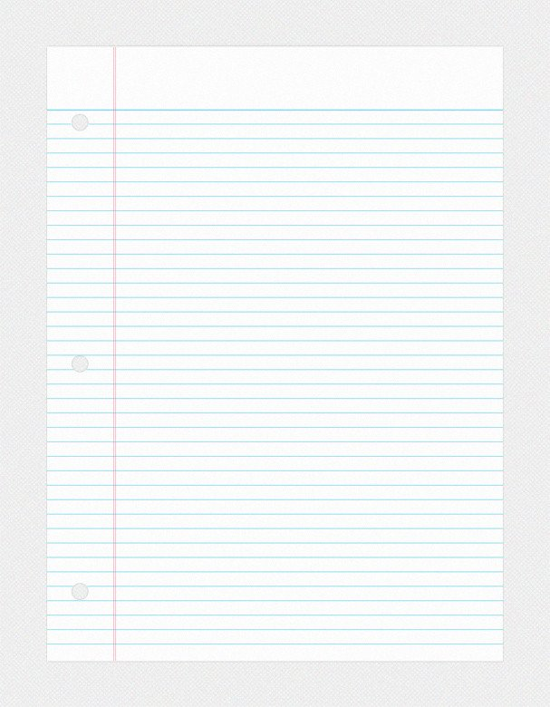 College Ruled Notebook Paper College Ruled Notebook Paper Psd