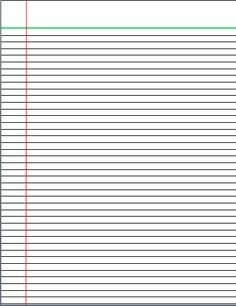 College Ruled Notebook Paper Lined Writing Paper Templates Mostly College Ruled
