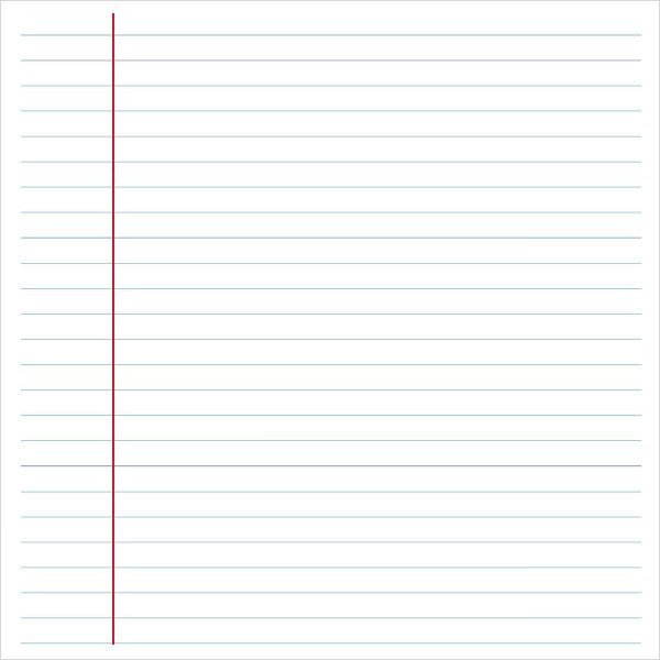 College Ruled Notebook Paper Notebook Paper 9 Download Documents In Pdf