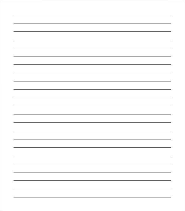 College Ruled Notebook Paper Sample College Ruled Paper Template 9 Free Documents In