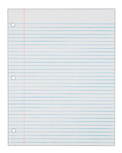 College Ruled Notebook Paper tops Notebook Filler Paper College Ruled 11 X 8 5 Inches