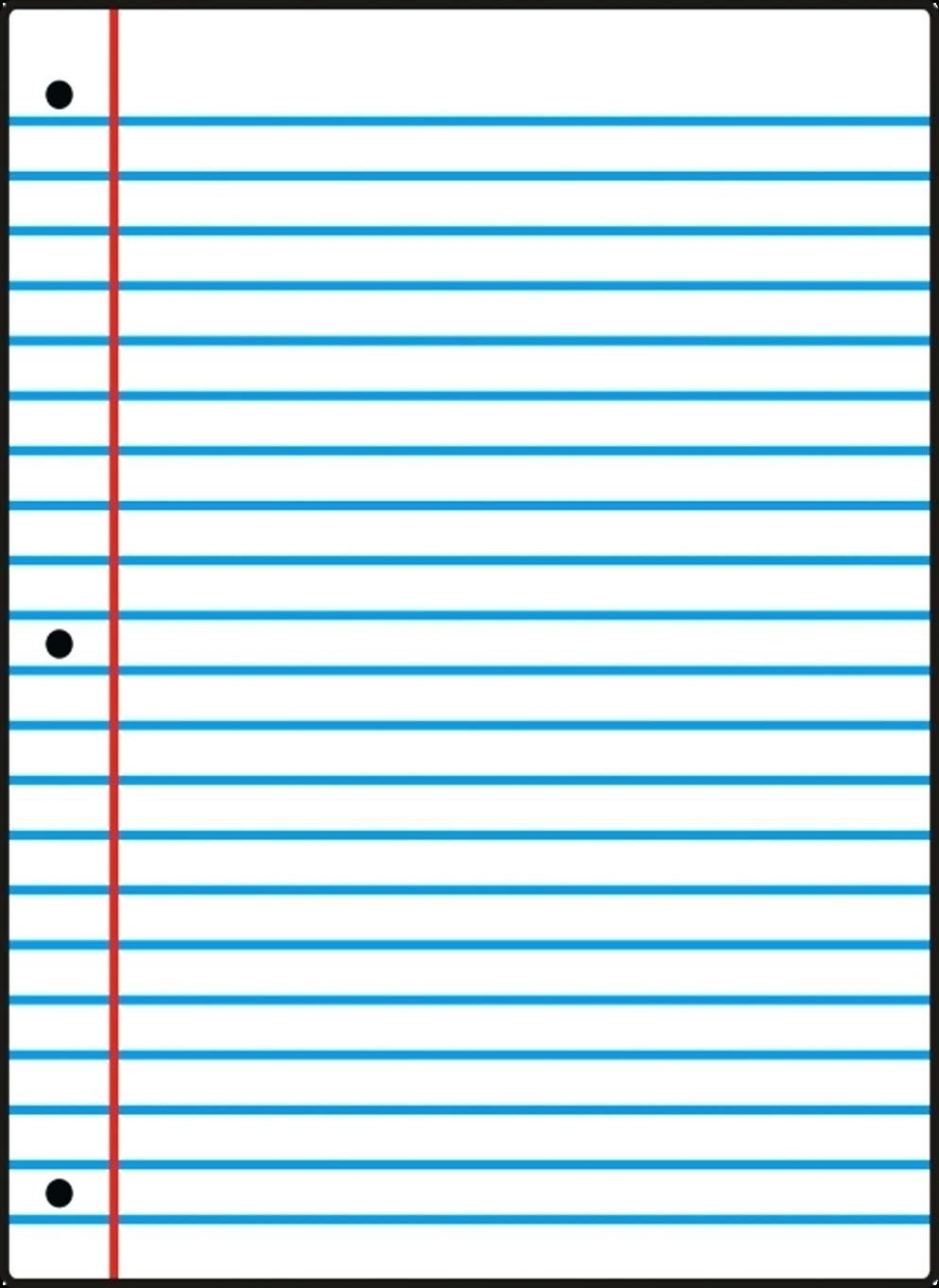College Ruled Notebook Paper Wide Ruled Notebook Paper Template