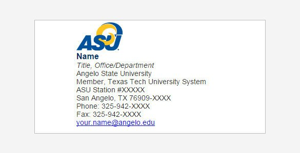 College Student Email Signature 5 College Student Email Signatures Free Download